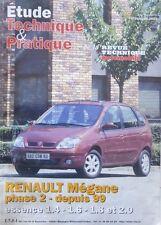 Revue technique ETUDE RENAULT MEGANE phase 2 depuis 1999 N° ETP 642 09.2001