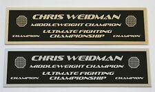 Chris Weidman UFC nameplate for signed mma gloves photo or case