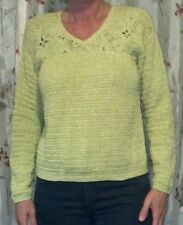 Liz Claiborne Chartreuse green knitted sweater Small Petite