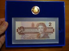 Canada 1996 Limited edition $2 Proof Coin and replacement banknote Set