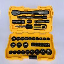 DeWALT 50 Piece Mechanics Tool Set 72 Tooth Ratchet Sockets Drive Bit Adaptor.
