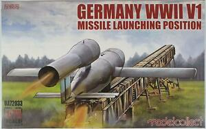 Modelcollect UA72033 German WWII V1 Missile & Launching Ramp 1/72 Scale Model