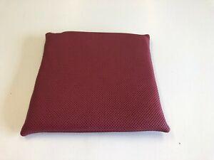 Lederpolster Sitzkissen Rubinrot Echtleder Nappa 35x35x3 cm rutschfest Lochleder