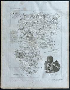Aisne - 1830 - landkarte Des Verwaltungsbezirk - Atlas Mi ,Lothringischer -