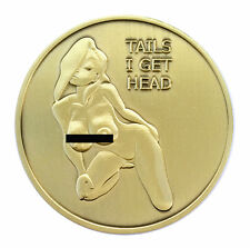 PinUp Heads and Tails Good Luck Nude Challenge Coin Art Gift for Man