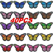 40PC Fabric Butterfly Iron Patches Embroidery Applique Patches For Arts Crafts
