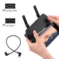OTG Data Cable for DJI Mavic Mini Pro Air Spark Drone Type-C Micro-USB AdapA8A