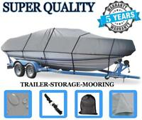 GREY BOAT COVER FITS LUND 1650 EXPLORER SS 2003 2004 TRAILERABLE