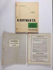 Vtg 1965-67 Key Blanks Locksmith Supplies Hoffman Armstrong Catalogs Auto Codes