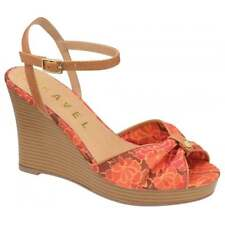 Ravel V&A Collection Beatrice Wedge Sandal Red/Floral UK 8 EURO 41