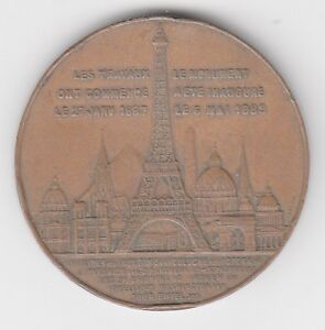 Médaille Paris Tour Eiffel 1898