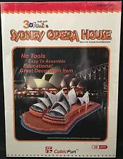 Sydney Australia Opera House 3D Architecture Puzzle 58 Pcs New, Sealed