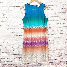 Etcetera Sleeveless Cotton Blend Shift Dress Womens Size 10