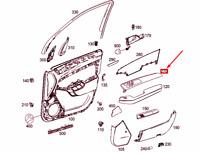 MERCEDES-BENZ ML W166 Front Left Door Trim Strip A1667201922 NEW GENUINE