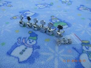 Set of Six Squier Closed Back Tuners,All Bushings and Screws Included, Ex. Cond
