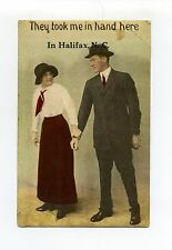 """Halifax NC """"They took me in hand here"""" 1913, antique postcard"""