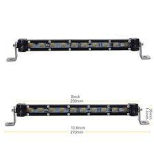 SLIM 9INCH 10W CREE LED WORK LIGHT BAR SINGLE ROW DRIVING LAMP UTE ATV SUV JEEP