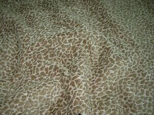 BTY REGAL CHENILLE ANIMAL LEOPARD SPOTS MOSS UPHOLSTERY FABRIC FOR LESS