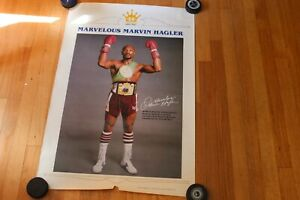 "1980's Marvelous Marvin Hagler champ boxing 24"" x 35"" ORIGINAL poster"