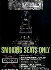 """(PPbk23) ADVERT 11X8"""" IRON MAIDEN : THE X FACTOR TOUR DATES (MY DYING BRIDE)"""