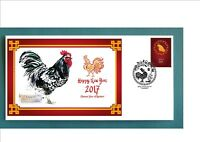 2017 YEAR OF THE ROOSTER SOUVENIR COVER- JAVA