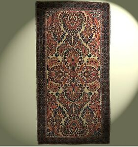 Sarough Teppich 125x63 cm  Wolle Old saruk Rug Tapis tappeto carpet wool