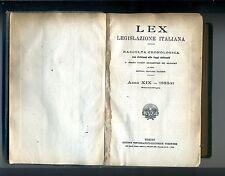 LEX LEGISLAZIONE ITALIANA A. XIX #Unione Tipografico Editrice Torinese UTET 1933