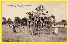 cpa 59 - Préventorium de WORMHOUDT (Nord) Enfants Tuberculose Les JEUX et MANÈGE