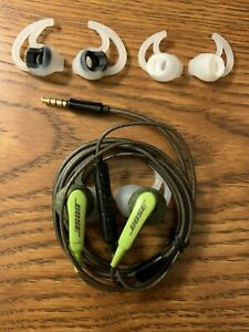 Bose SiE2i SoundSport Wired In-Ear Headphones -W/Microphone-Green-Android Device