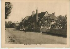 ANTIQUE JOHN MILTONS COTTAGE IVY HOUSE CHALFONT ST. GILES ENGLAND STREET PRINT