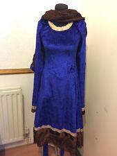 Blue velvet churidar suit