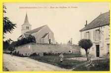 cpa Rare 21 - MEURSANGES (Côte d'Or) Rue de l'ÉGLISE et la POSTE Animés Enfants