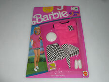 New On Card Barbie Sporting Life Fashions Checkers Outfit Set 777 Mattel 1990 >>