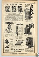 1924 PAPER AD North Bros Blizzard Gem Lightning Ice Cream Maker Freezer Shepards
