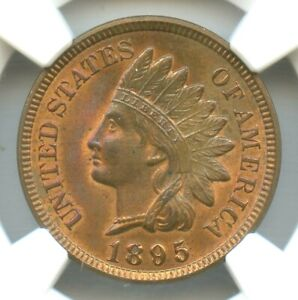 1895 Indian Head Cent, NGC MS64+RB