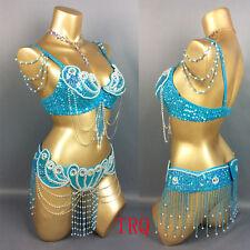 C801 Bauchtanz Kostüm Fasching Belly Dance Costume 2 Teile Oberteil BH Gürtel