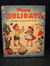 Happy Holidays And Other Fun Days Around The Year Rand McNally Elf Book 1953