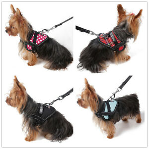 Small Pet Dog Harness Soft Vest Collar Puppy Collar W/ Patch for Small Medium