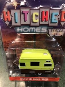 Greenlight  Hitched Homes  Series 3  1958 Siesta  travel Trailer Camper.   SALE!