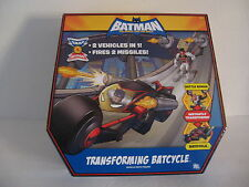 2009 MATTEL TRANSFORMING 2 IN 1 BATMAN BATCYCLE -- NIB