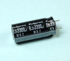 10pcs Rubycon MBZ 3300uF 6.3v 105C Radial Electrolytic Capacitor Motherboard