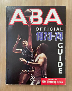 VINTAGE 1973-74 OFFICIAL ABA AMERICAN BASKETBALL ASSOCIATION SPORTING NEWS GUIDE