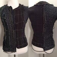 Rare Vintage Artisanal Martin Margiela Deconstructed Line 0 Tweed Vest 2005 XS/S