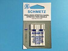 Stretch Zwillingsnadel Doppelpack130/705 4 0/75 SCHMETZ Flachkolben Nähmaschine