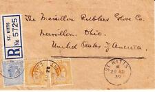 St Kitts and Nevis SG#72,#70(pair)-SANDY POINT AU/29/39-Registered(label