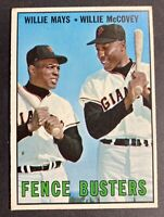 1967 Topps Willie Mays/ Willie McCovey San Francisco Giants #423 Baseball Card