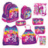 My Little Pony Backpack FILLED Double Pencil Case Shoe Bag Pouch Lunch Box MLP