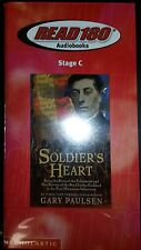 READ-180 AUDIO BOOK: (SOLDIERS HEART)-(SCHOLASTIC)-(STAGE C)-(CASSETTES)