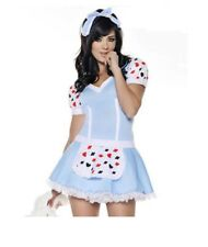 SEXY Halloween COSTUMEs Womens Adult MISS ALICE IN WONDERLAND Adult Cosplay L