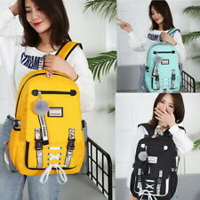Women Canvas backpack Large school bags teenage girls usb with lock Anti theft